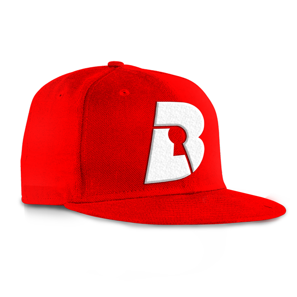 Red Snapback on White | Beatlock