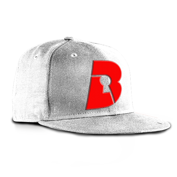 White Snapback On Red | Beatlock